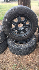 """8 bolt chevy 20"""" Rims with Duratracs"""