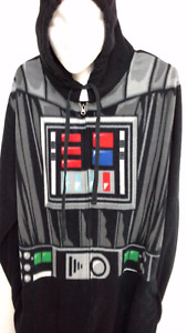 Star Wars hooded Darth Vader adult onesie pajama size XL