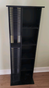 Matching Black TV Stand and CD/DVD Tower