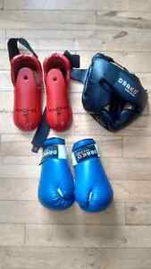 Karate Gloves, Foot and Head Gear