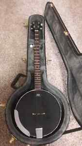 Stagg open back banjo with hard case