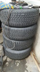 265/70/17 Firestone Winterforce tires and wheels.