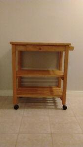 Wooden Kitchen Cart
