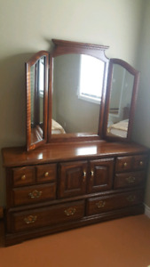 Large dresser with mirrors