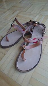 Mila Paoli  sandale made in Italy  vrai cuir brun  #6