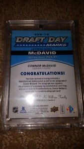 2015/16 Upper Deck Connor McDavid signed Rookie Draft Day Marks Strathcona County Edmonton Area image 9