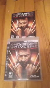 X-men origins wolverine complet CIB ps3 10$
