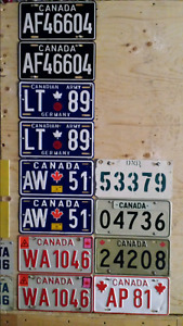 Looking for old License Plates