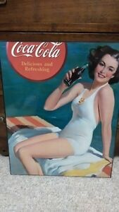 Coca Cola Vintage Poster on Board