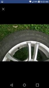 4 summer tires with honda mags