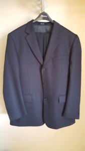 Moores Black Suit 42 Regular, 36 Waist