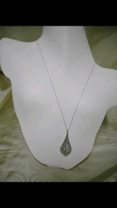 925 SILVER NECKLACE AND PENDANT reduced to 40