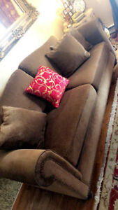 Bombay couch and love seat