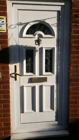 Front white UPVc door