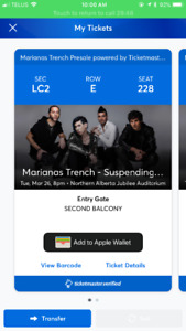 Marianas trench tickets