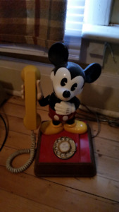 """Mickey Mouse  """"dial""""  collector Telephone."""