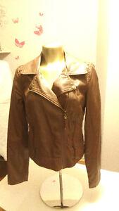 Ladies medium faux leather jacket (like new)