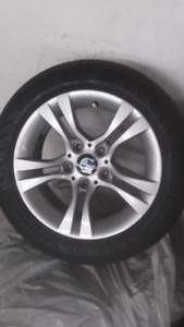 Set of oreginal  BMW rims and all season tires