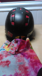 Selling Smith snowboarding helmet and seirus mask $55