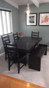 West Elm Dining Table & Bench