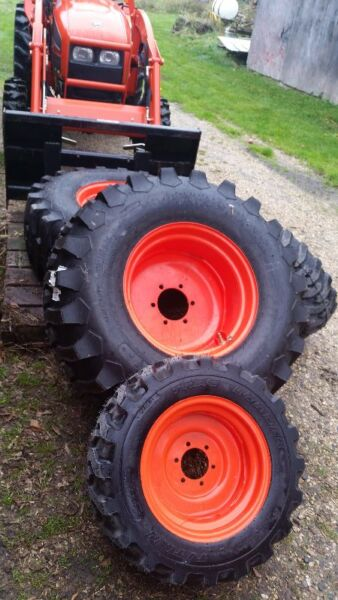 Kubota Tractor Tires And Wheels : Industrial tires new on rims for kioti kubota tractor