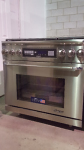 "Stainless Steel 36""Gas Stoves Dacor Thermador Wolf JennAir Stove"