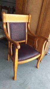 Beautiful Antique Occasional Leather Chair With Arms