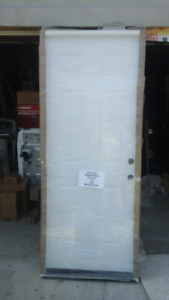 New insulated 6 panel entry door with pvc jamb 32 x 80 finished