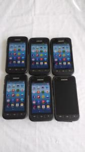 6 Samsung Galaxy Rugby's, 8gb, unlocked