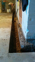 Interior/Exterior weeping tile and waterproofing