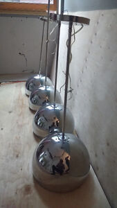 4 adjustable height crome dome galley lights