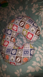 Boppy breastfeeding pillow, with cover