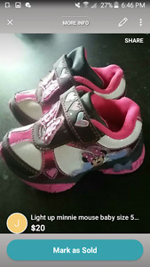 baby shoes minnie mouse size 5