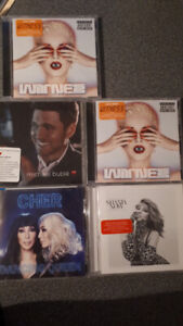 CD's...Katy Perry, Cher, Buble $8 each Shania $12...all new