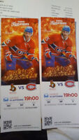 Billets hockey Canadien VS Sénateur