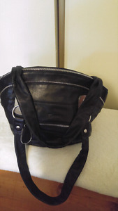 AUTHENTIC JOANEL BLACK LEATHER PURSE
