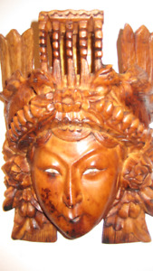 Wood Carved Mask from Thailand, incredible carvings.