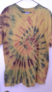 adult tye-dye (hippie) shirts. size large. $12 or 2 for $20