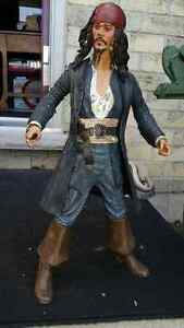 Captain Jack Sparrow talking figure approximately 18 inches tall London Ontario image 1