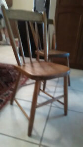 Antique Wooden Chairs with Spindle back