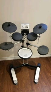 Roland HD-1 Electronic Drum Set with Throne and Alesis DRP100