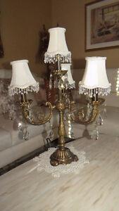 Vente Spéciale! lampes en laiton avec cristaux
