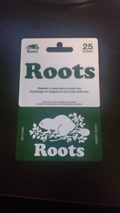 $25 roots gift card