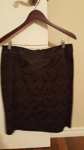 Two black pencil skirts size 10