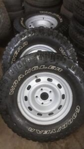 "Dodge Ram 17"" steel rims and tires"