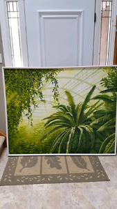 Greenhouse Oil Painting on Canvas