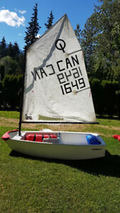 Optimist Sailing Dingy - race ready