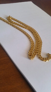 Gold plated chain 24 inches
