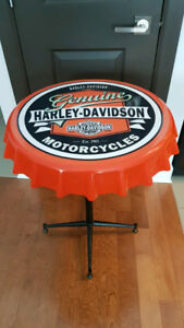 Table Harley Davidson style bistro