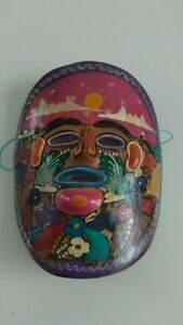 Beautiful Painted Mexican Mask